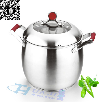 Stainless steel cookware stainless steel tableware three-story Philip steel pot Platinum pot