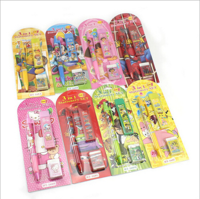 Disney Cartoon Stationery Set Suction Card Set Children's Gift