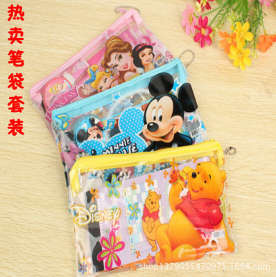 Cartoon stationery Korean version of pencil bag set students special gift stationery wholesale
