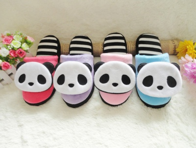 New panda female cartoon home shoes for winter 2015