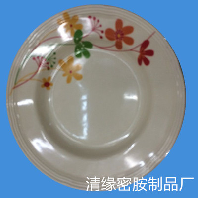 Melamine tableware melamine tableware trimming plate manufacturers selling 9'inch melamine plate stock lot