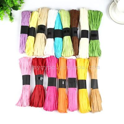 Manufacturers selling Raffia Lala grass multicolor long-term cash supply