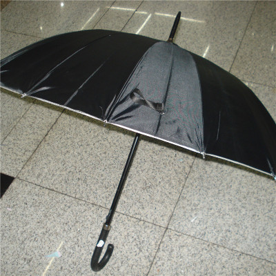 Full-semi-automatic umbrella oversized rc long-handle men's umbrella sun shade sunny umbrella silver rubber umbrella