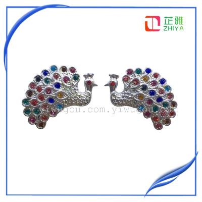Sliding door accessories decorative resin drill peacock flat drill