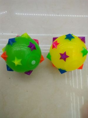 10 cm ball meteor flash toy TPR material ball rope pat the ball