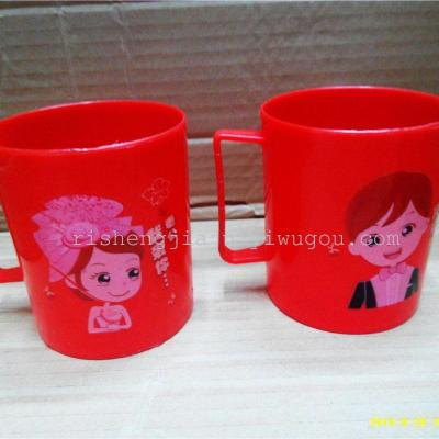 Husband wife I love you red on a cup of wedding items RS-2889
