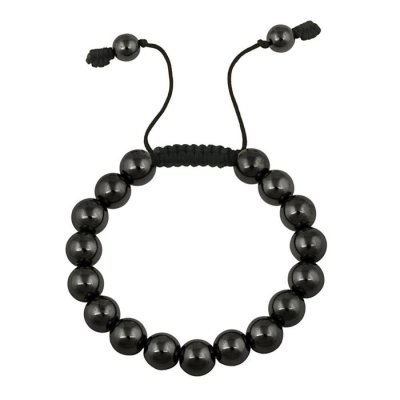 2016 customized health bracelet black bile stone decorative bracelet