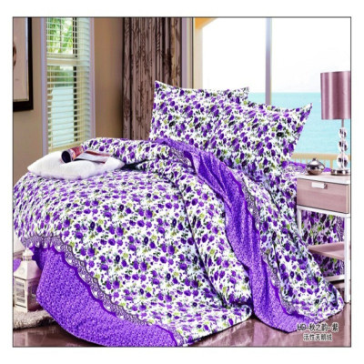 Super soft velvet thickened active printing bedspread