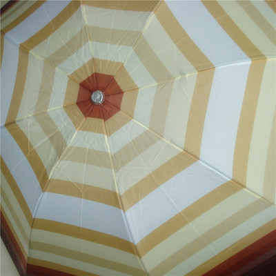Fresh Striped Umbrella Four-Color Striped Contrast Color Tri-Fold Umbrella Creative Folding Umbrella