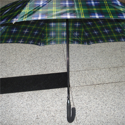 Plaid Solid plus-Sized Long Handle Umbrella Pull Ring Umbrella Stand Super Strong Windproof Sunny Umbrella