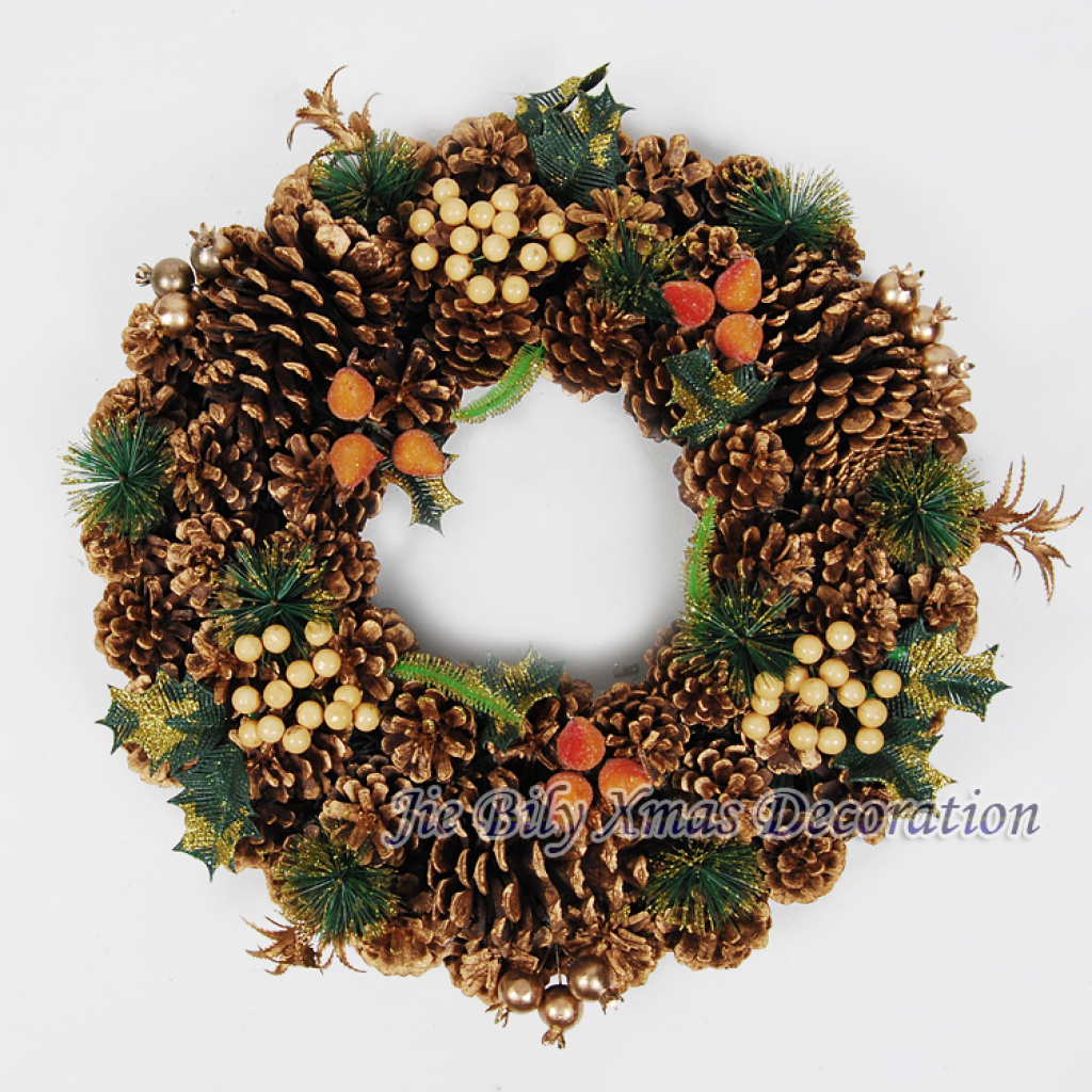 Supply 2015 Top Sale Christmas Wreath Indoor Wall Decoration Garland