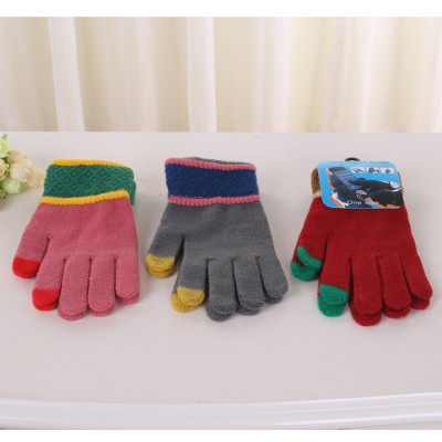 Warm touch screen gloves for men and women couples five-finger gloves w-0032
