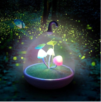 New bud mushroom lamp touch with the night lamp usb-charged mushroom birdcage lamp
