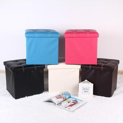High-grade leather reinforced stool storage box stool hot style folding storage box household items