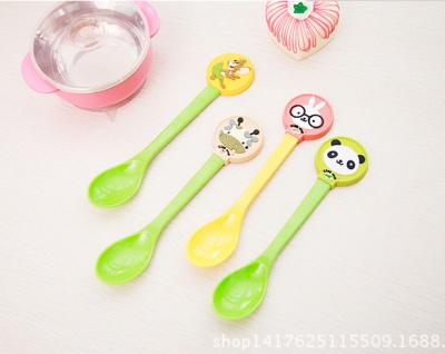 New Korean version of melamine plastic spoonful soft plastic spoonful of children