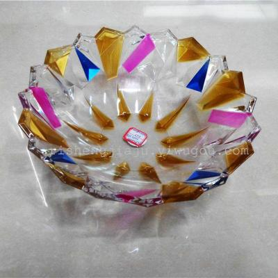 Colorful crystal fruit plate with multi cylinder RS-4493 special purchases for the Spring Festival candy