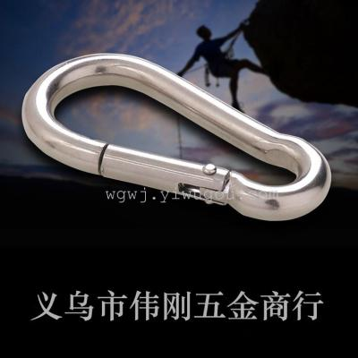 9 galvanized spring hook iron calabash type climbing clasp 9mm*90mm