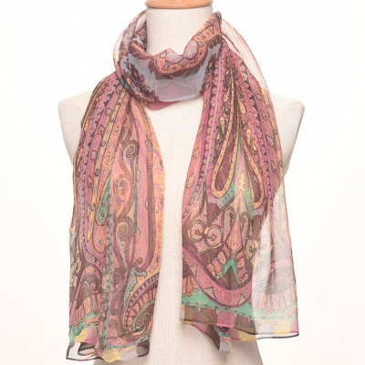 The new sun protection air-conditioning shawl shawl chiffon silk scarf.