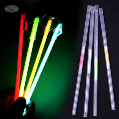 Fluorescent siphon Glow light sticks a straw bar supplies fluorescent disco-disco birthday party straws