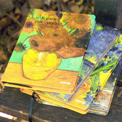 Lianhua Van Gogh hard copy A5 retro 32K diary hardcover notebook Phnom Penh