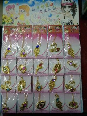 Hang board toy a variety of children's fashion jewelry gold necklace