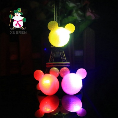 Factory direct light hard materials Mickey ear rings flash ring concert luminous ring wholesale
