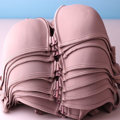 Button front bra female underwear comfort mother cotton bra strap fixed color