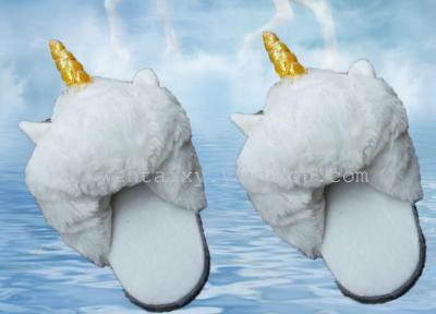 The new Unicorn cartoon cotton slippers forest Guardian wacky Aries half dragged the sheep