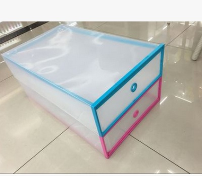 Double box boots latest explosion models pull candy color box color box transparent ladies shoe