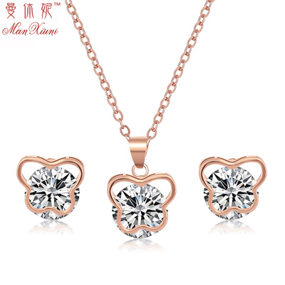 Man Hugh ni 925 silver temperament earring female Korean version of simple sweet fashion diamond