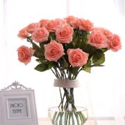 High grade moisturizing rose simulation flowers single hand feel rose home decoration Taobao explosion