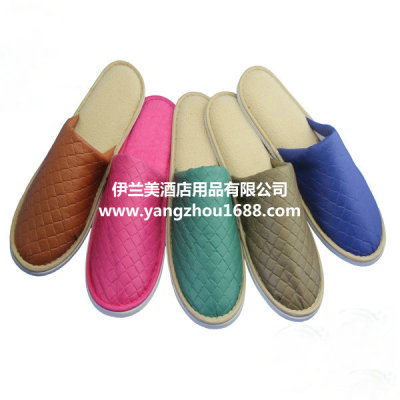 The original single foreign trade new leather bottom floor indoor Home Furnishing cotton slippers