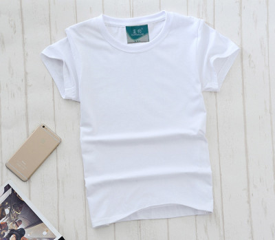 Manufacturers selling 180 grams of cotton Crewneck T-shirt customized blank class service men and women t-shirt t-shirt