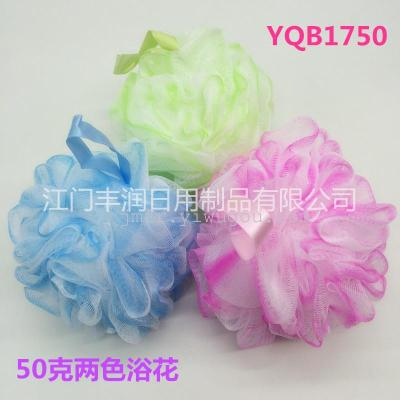 Fine and soft bath flowers, new material bath ball, ribbon flower bath