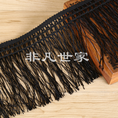 Black thin-hanging suisu lace factory direct sales.