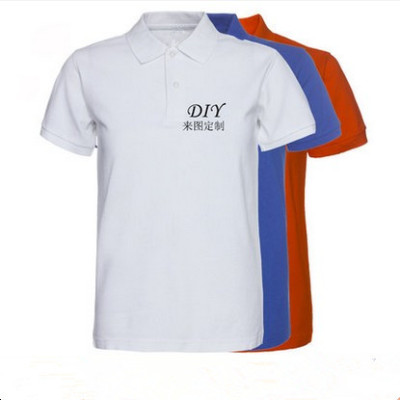 Manufacturers selling cotton polo multicolor men's T-shirt lovers T-shirt customized service Xiayue class
