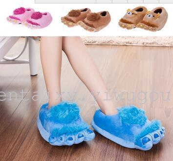 The new lovely warm home cotton slippers hobbit feet indoor floor's creative Home Furnishing shoes