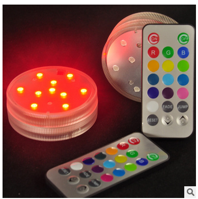LED remote control water proof electronic candle lamp colorful color changing diving lamp vase lamp fish tank lamp