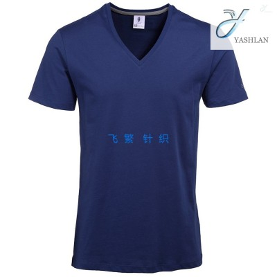Men's cotton T-shirt, plain V-neck, Round neck, multicolor loose-fitting shirt, is available from high quality manufacturers