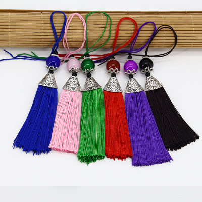 Factory Keychain key ring hanging TASSEL EAR fringed ears multicolor lobster clasp