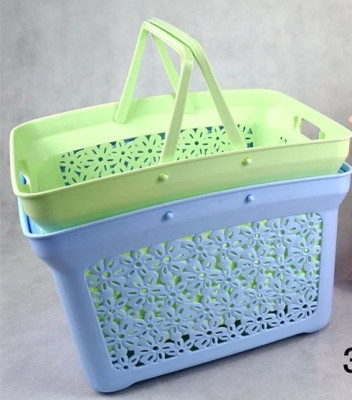 New large hollow pattern portable hand basket basket laundry basket