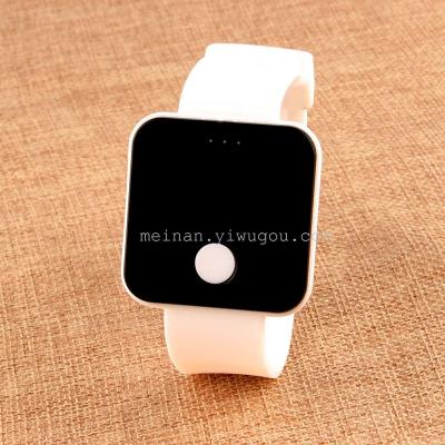 Classic one key LED student watch square LED Watch