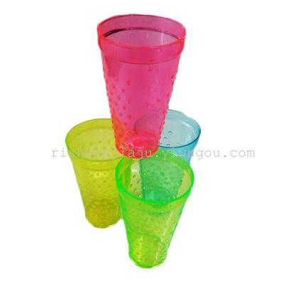 Round colorful PS transparent cup / slip wave shukoubei RS-2878