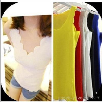 Ladies Cotton Camisole slim sexy small short shirt - sleeveless outer all-match tide