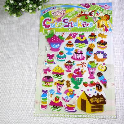 Children's cartoon stickers stickers facelift puzzle educational baby bonus smile bubble stickers