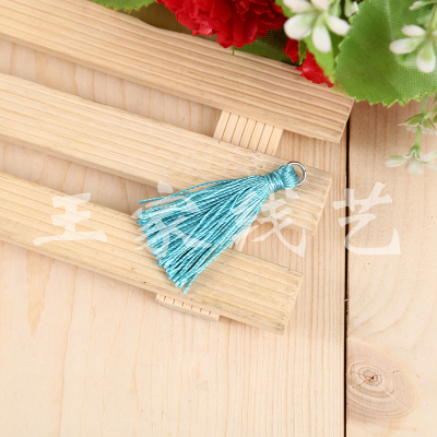 Factory direct blue wear ring small tassel hang must hang accessories decoration