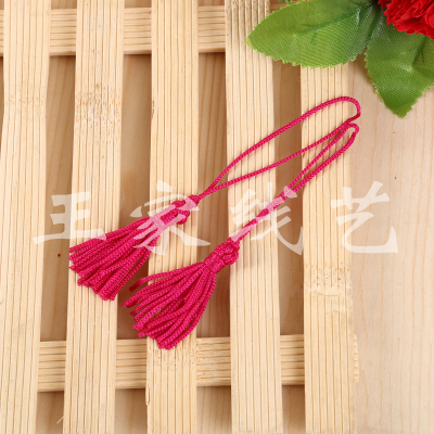Factory direct sales rose red simple tassel must be isolated with accessories