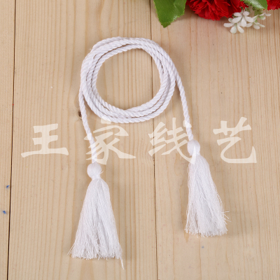 Manufacturers of direct white cotton ropes on tassel pendant accessories