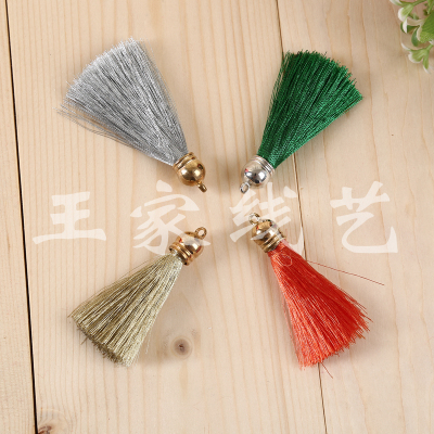 Manufacturer direct sales gold and silver color small tassel hanging accessories