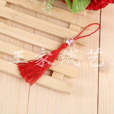 Factory direct sales of China's red beads tassel hanging accessories